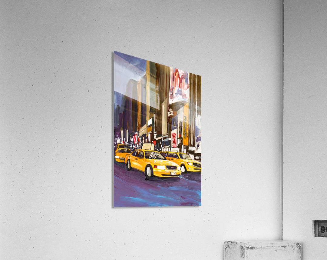 Cabs at Night  Acrylic Print