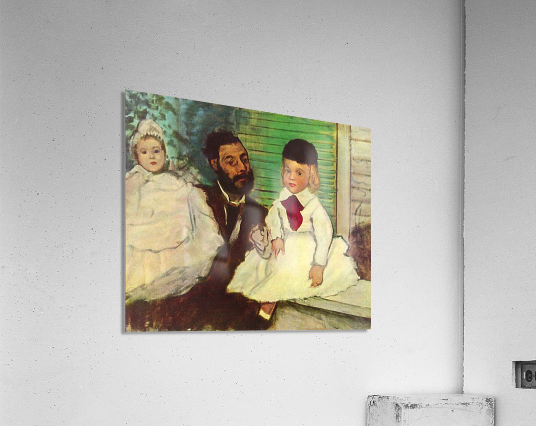 Portrait of Count Lepic and his daughters by Degas  Acrylic Print