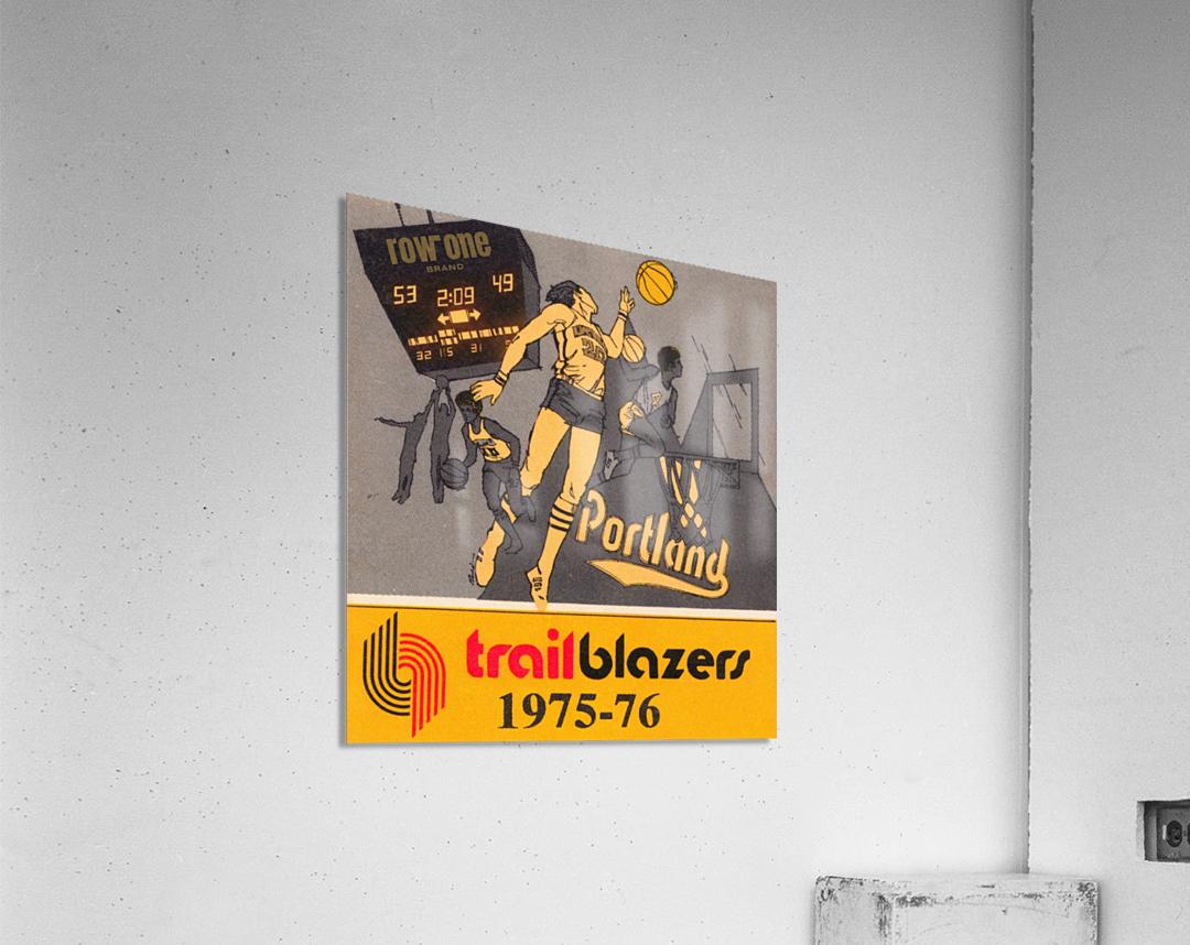 1975 Portland Trailblazers Art  Acrylic Print
