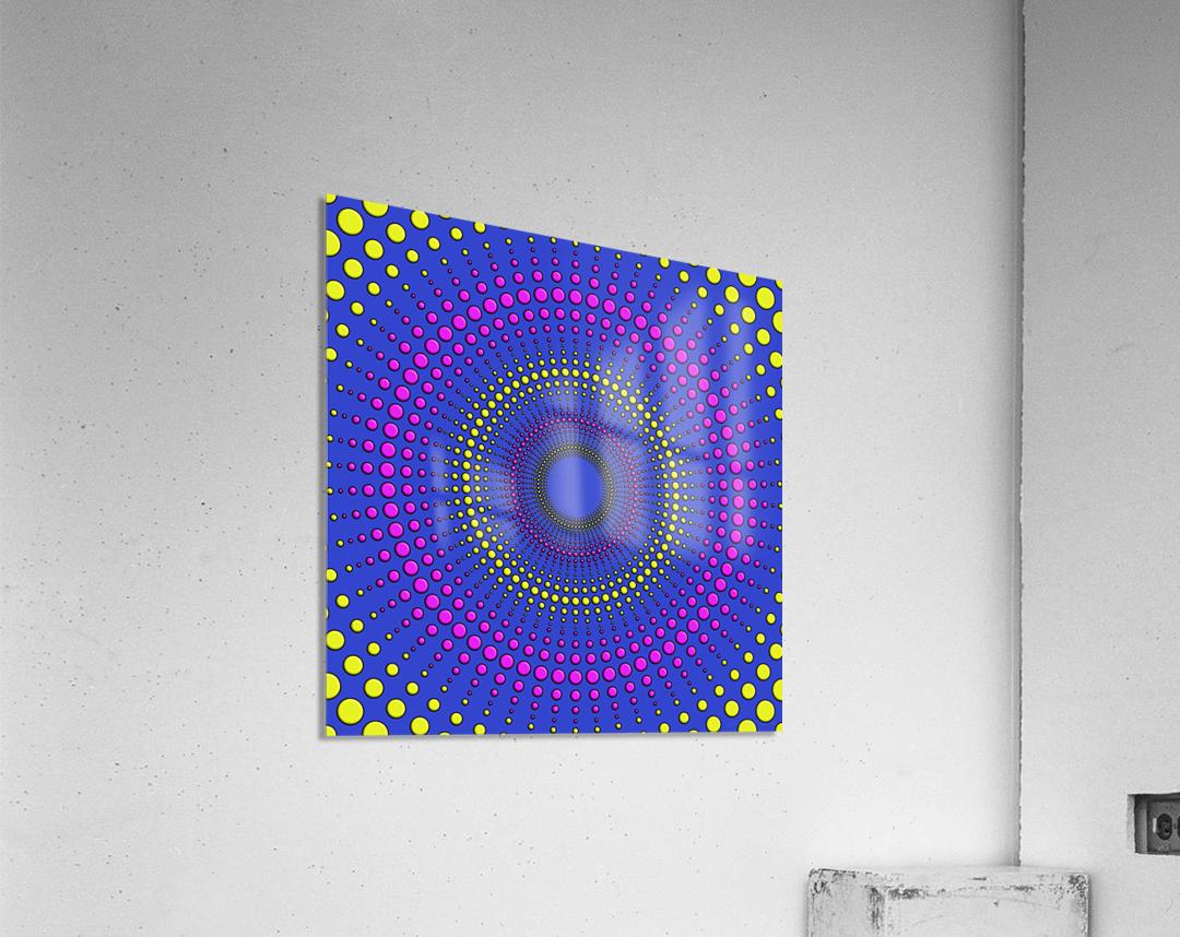 36x36DotsAround 7200 WM  Acrylic Print