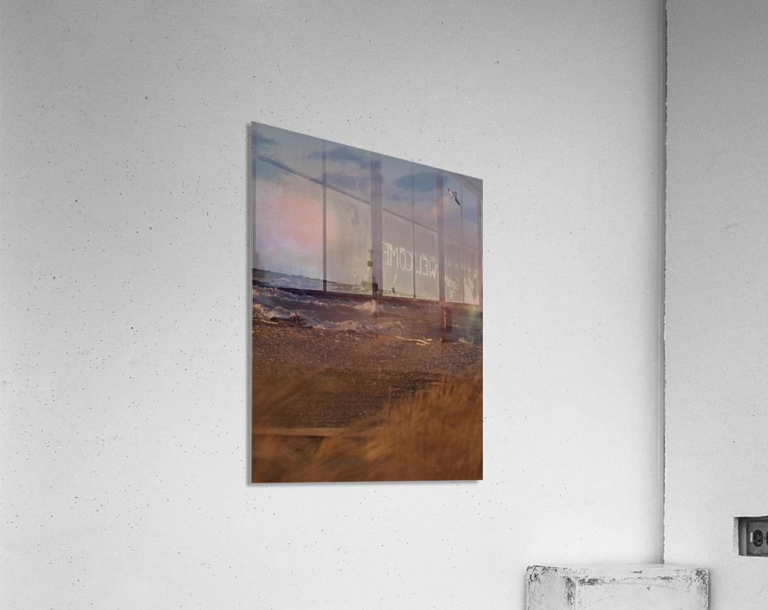 Conneaut Ohio lighthouse during storm  Acrylic Print