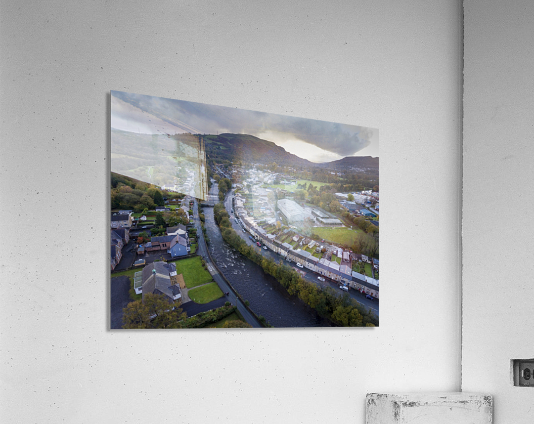 The river Tawe in Ystradgynlais  Acrylic Print