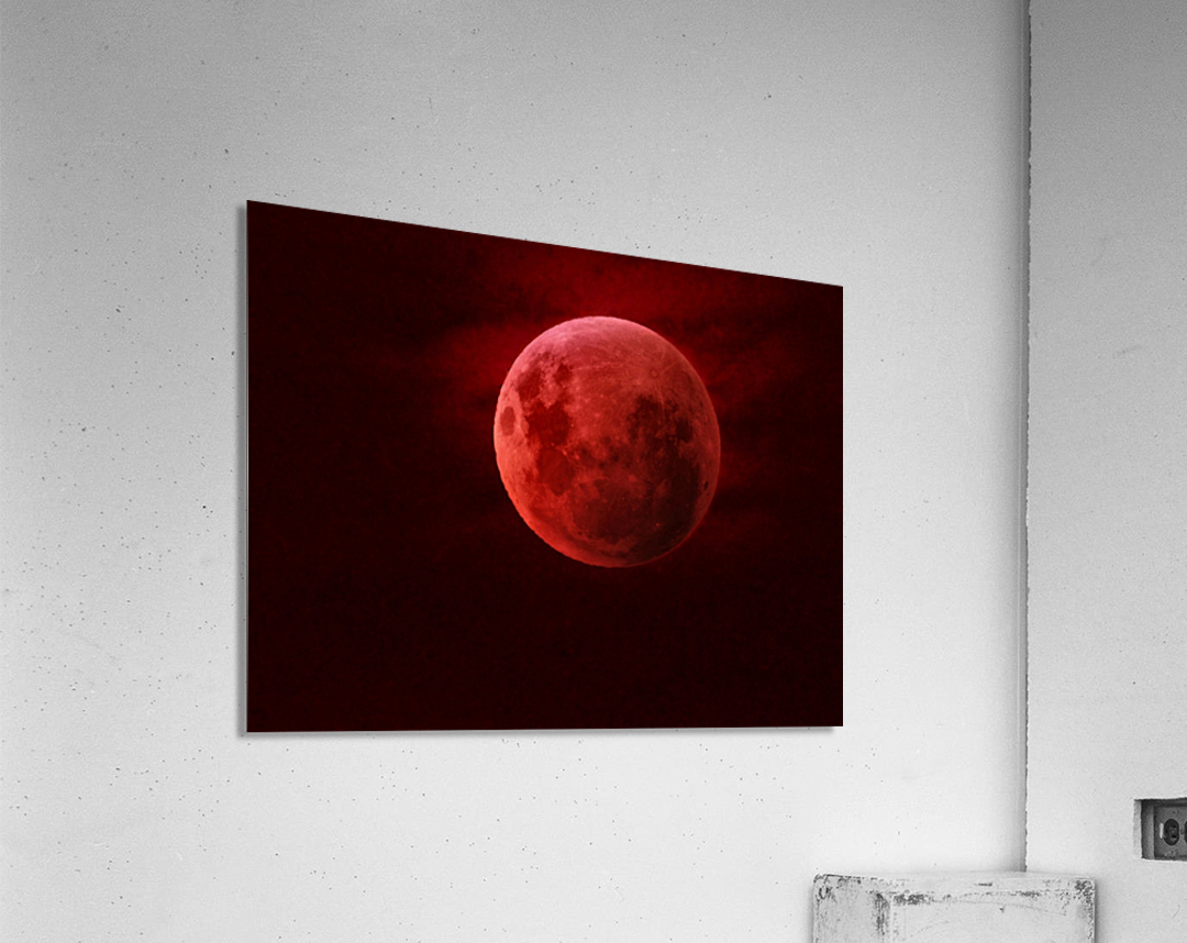 One Red Moon  Impression acrylique