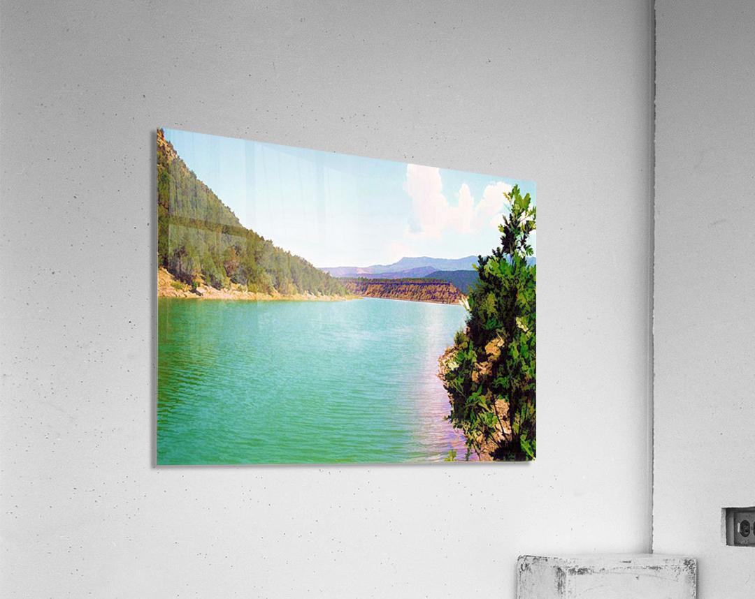 Utah Lake  Impression acrylique
