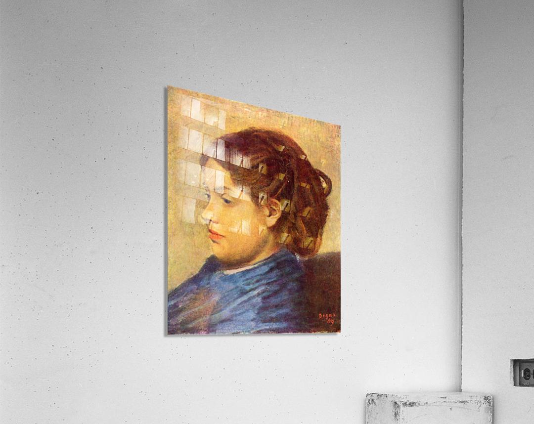 Portrait of Mademoiselle Dobigny by Degas  Acrylic Print