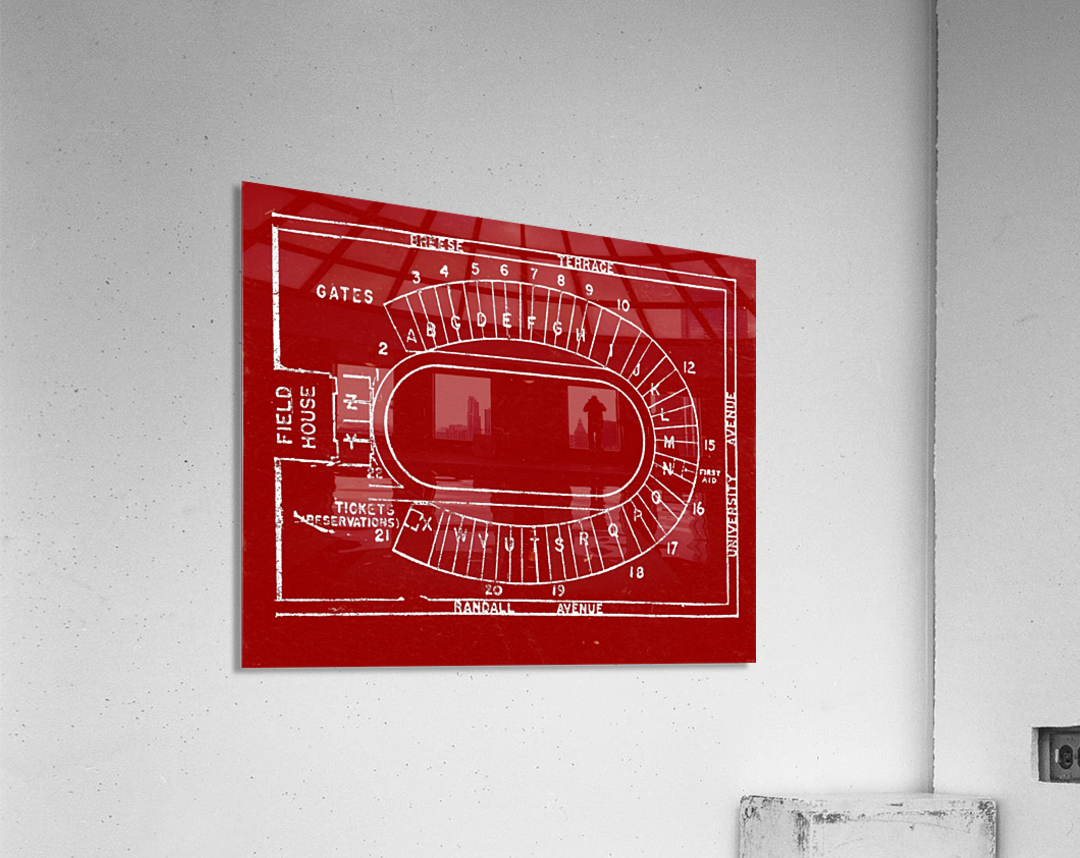 1957 camp randall map art  Acrylic Print