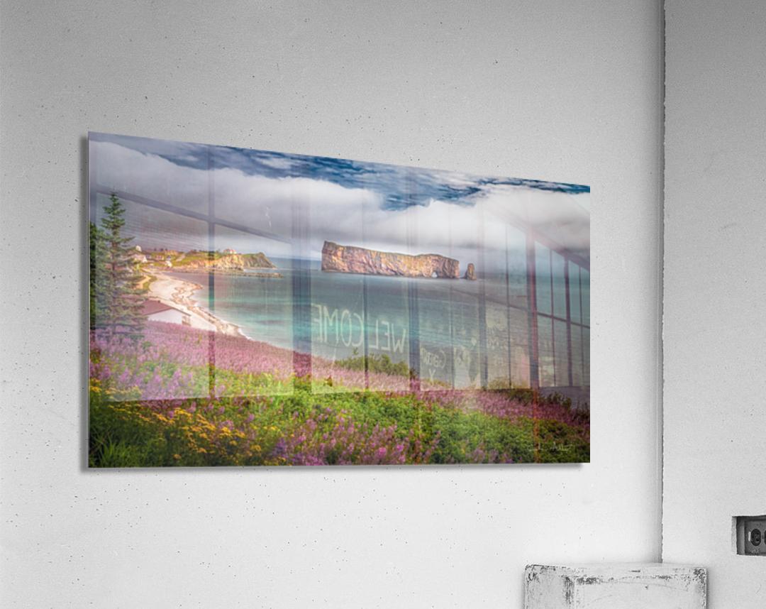 Baie de Perce  Impression acrylique