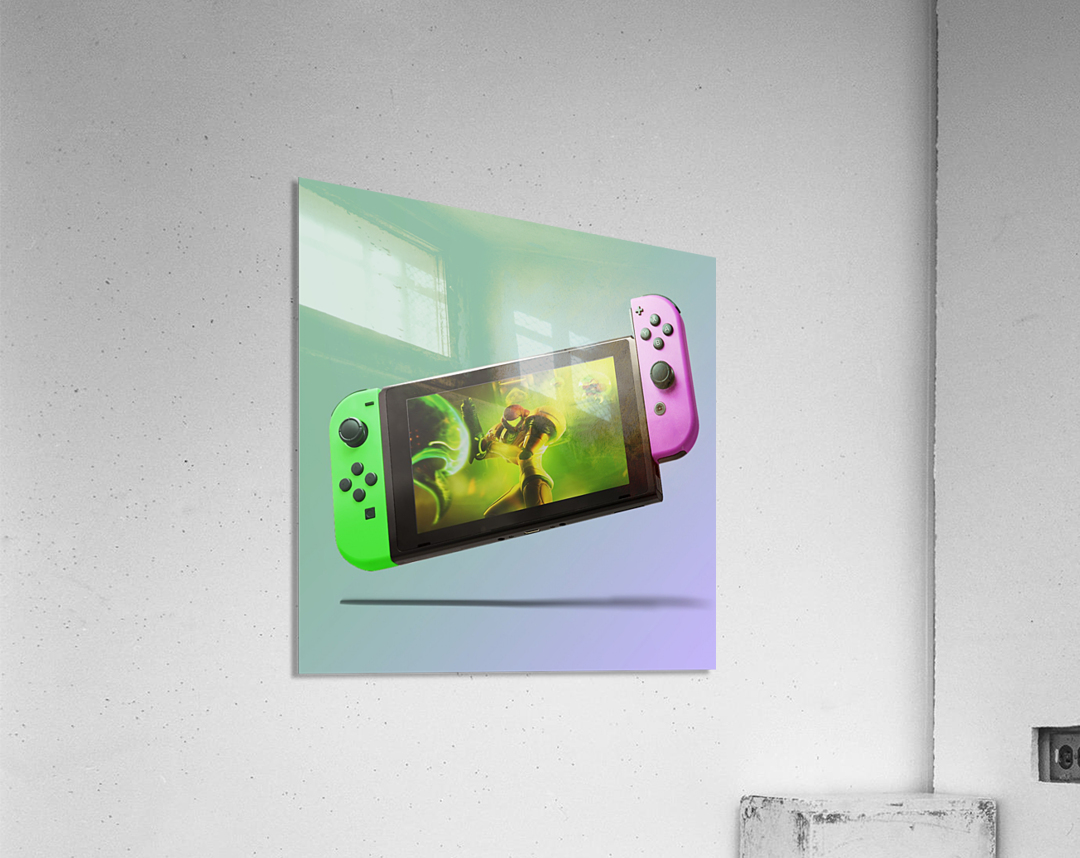 Nintendo Switch Green Pink  Acrylic Print