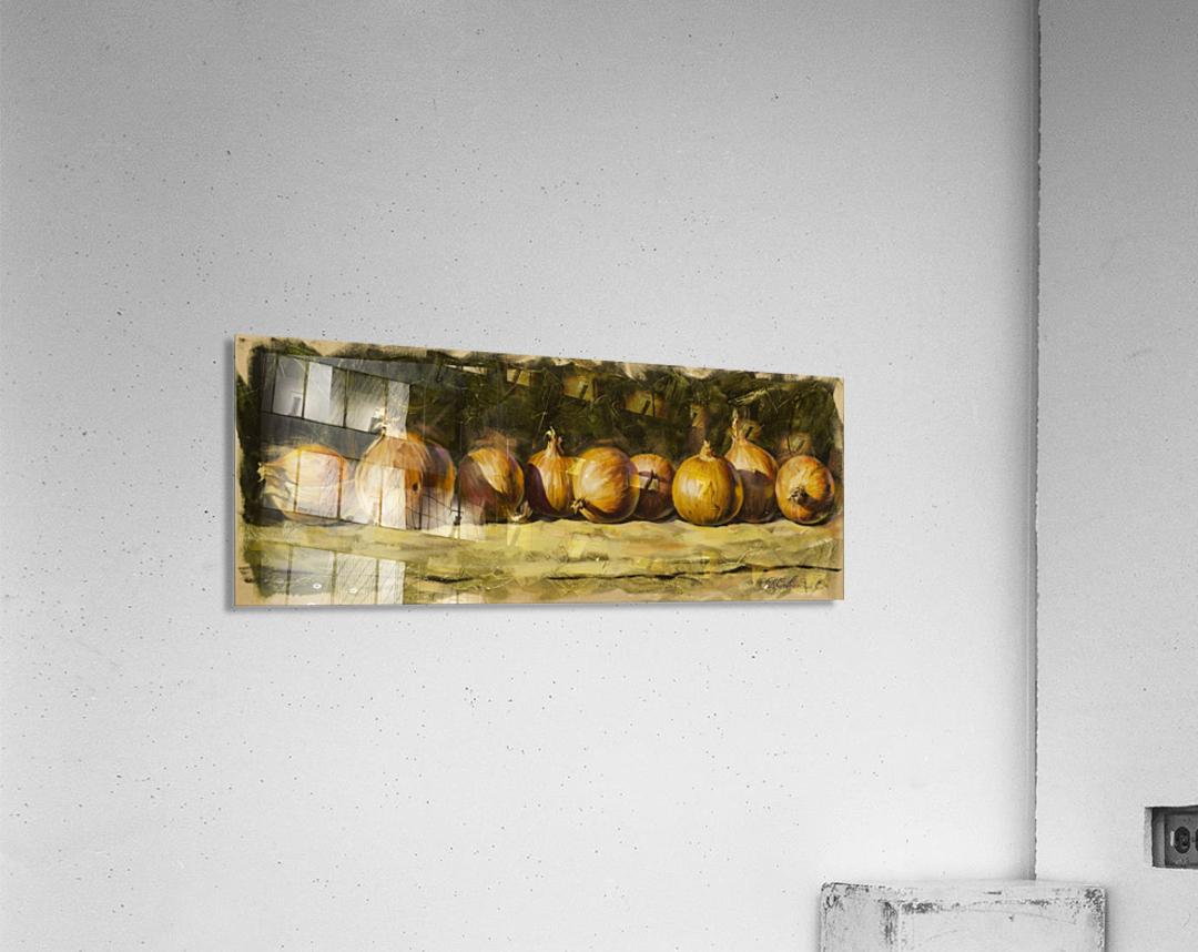 Kitchen Still Life with golden bow  Acrylic Print