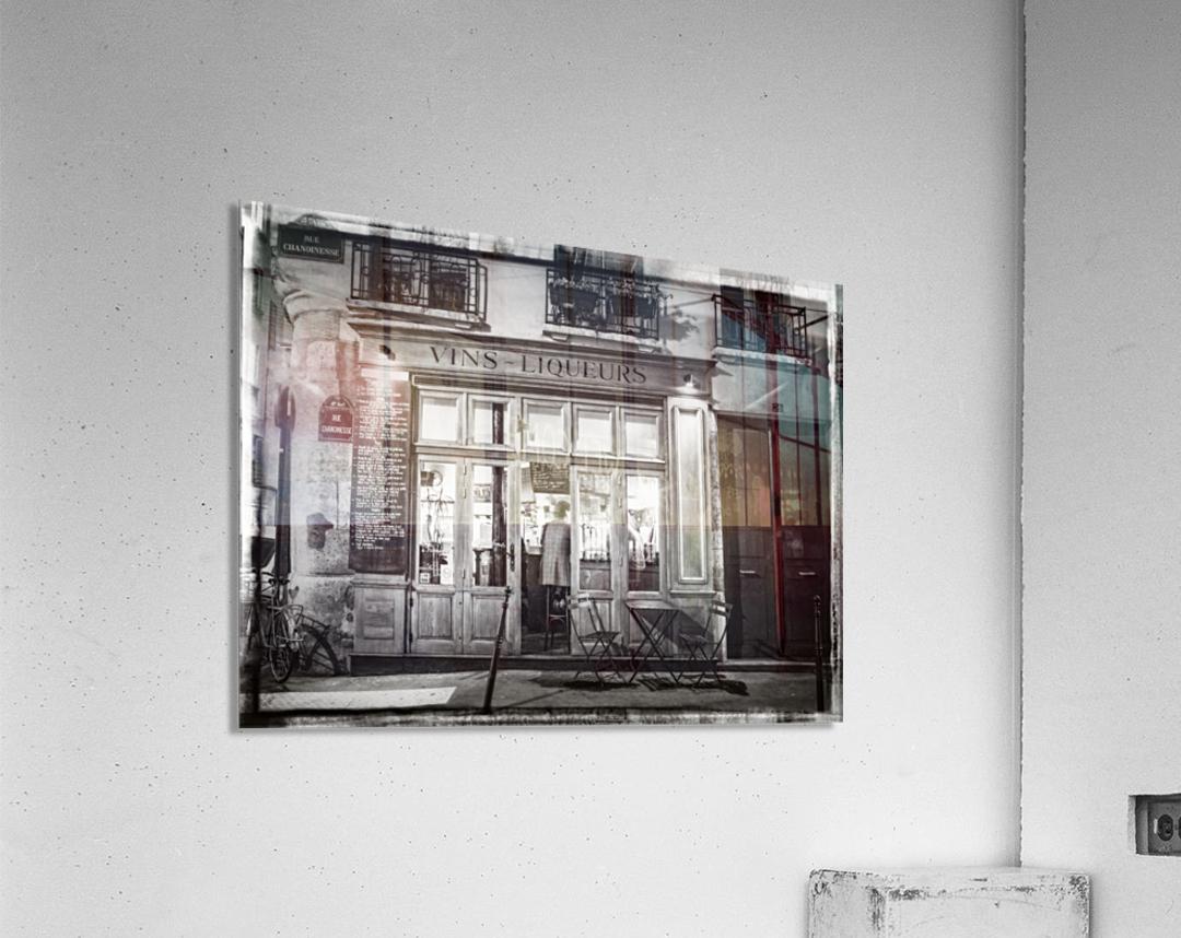 Cafe on street of Montmartre, Paris  Acrylic Print