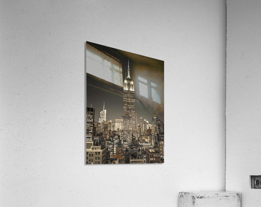 Empire State Building with New York City Manhattan skyline with skyscrapers  Acrylic Print