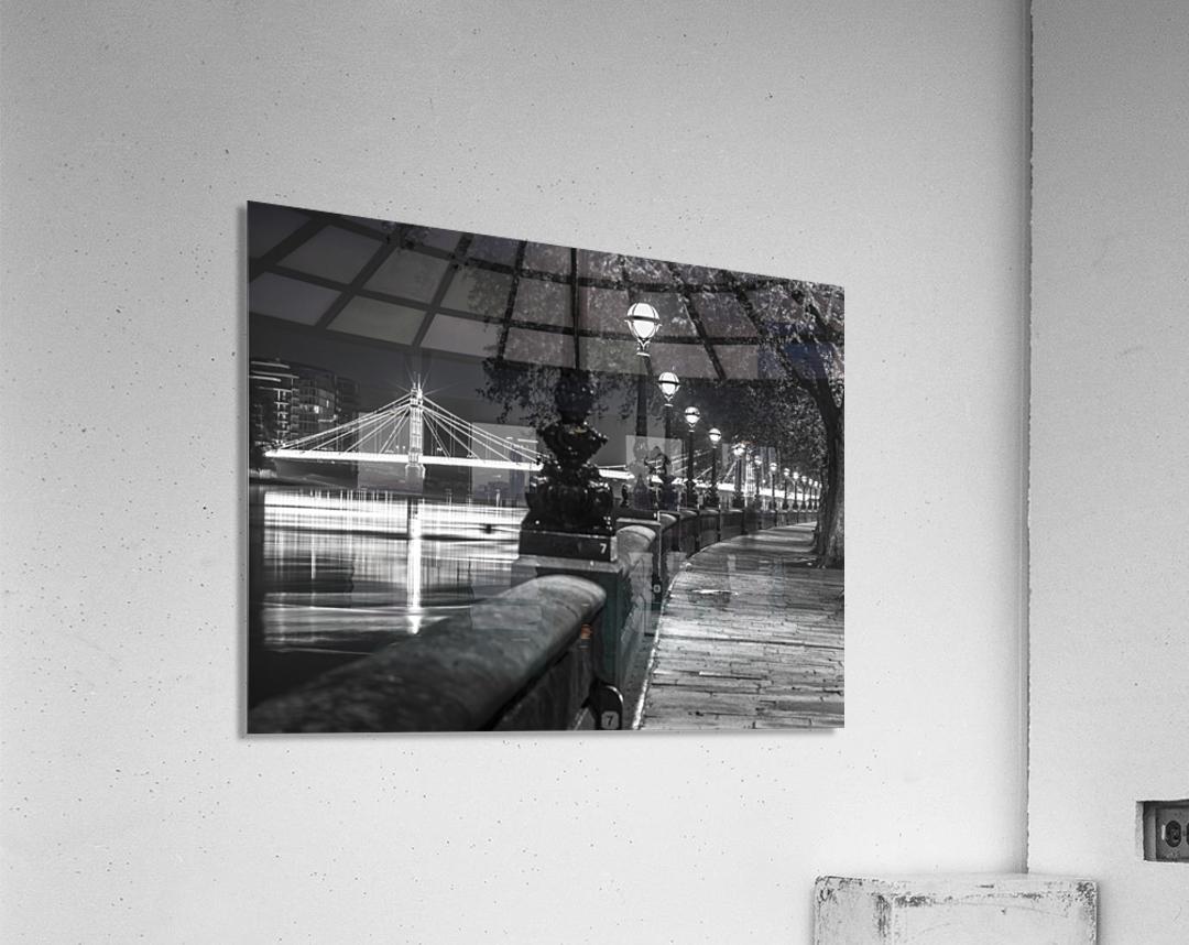 London Riverside Promenade with Albert Bridge  Acrylic Print