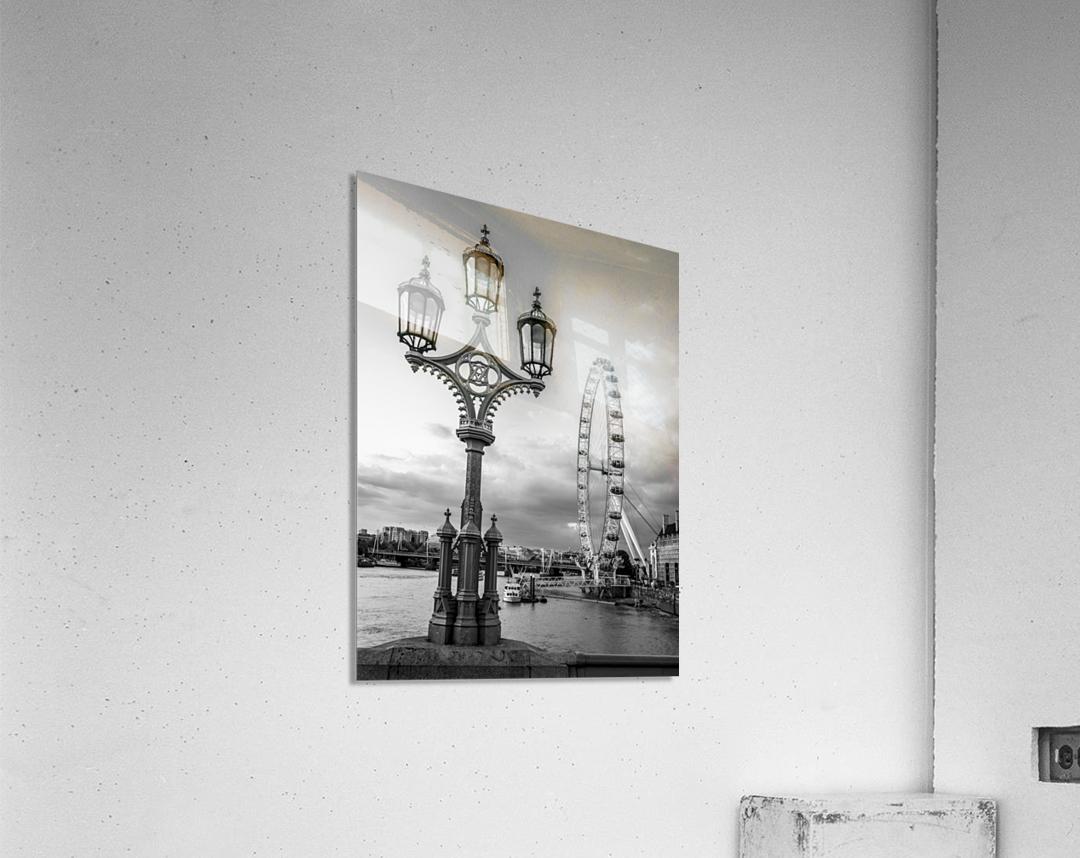 Street lamp with London Eye, London, UK  Acrylic Print