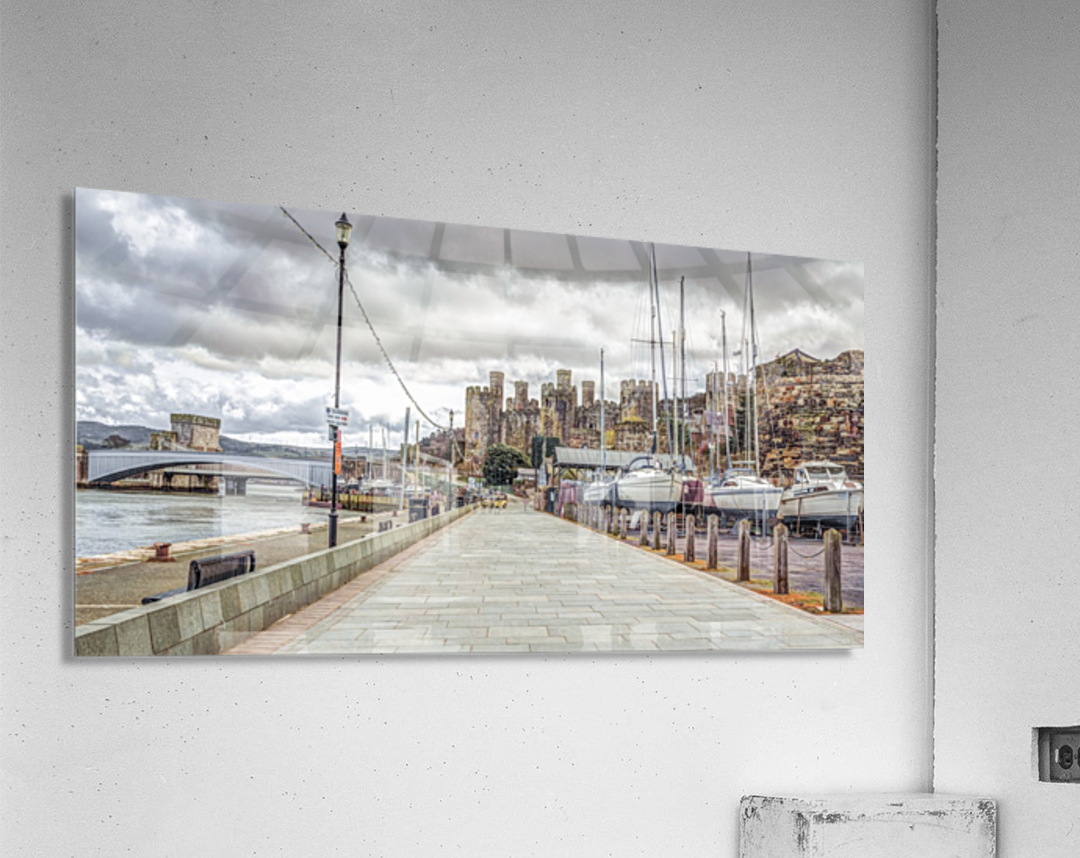 Conwy harbour, North Wales coast  Acrylic Print