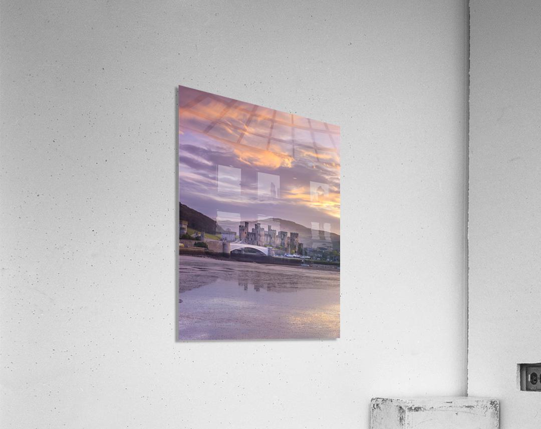 Conwy castle, North Wales coast  Acrylic Print