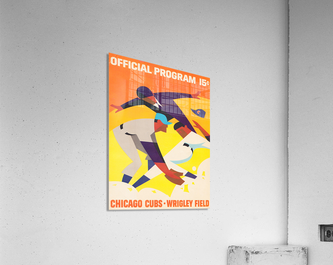 1967 Chicago Cubs Program  Acrylic Print