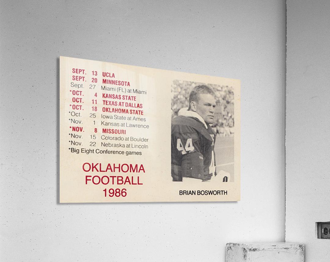 1986 Oklahoma Football Brian Bosworth  Acrylic Print