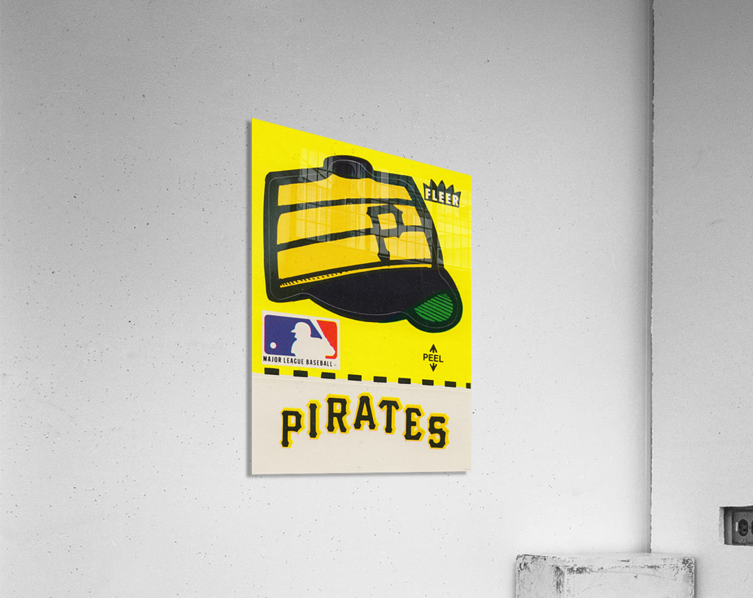 1981 Pittsburgh Pirate Fleer Decal Art  Acrylic Print