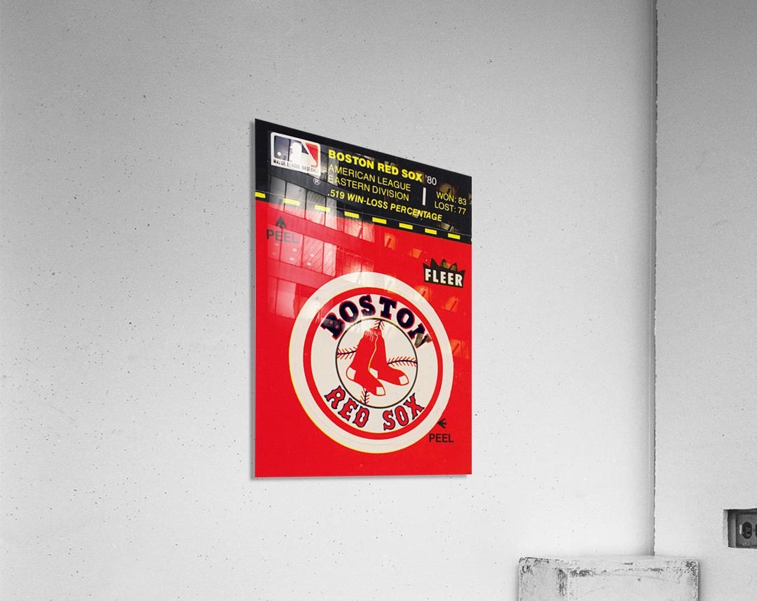 1981 Boston Red Sox Fleer Decal Art  Acrylic Print
