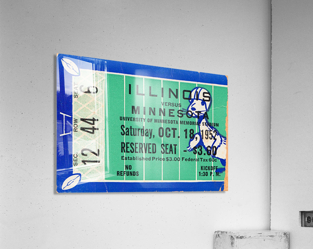 1952 Minnesota vs. Illinois  Acrylic Print