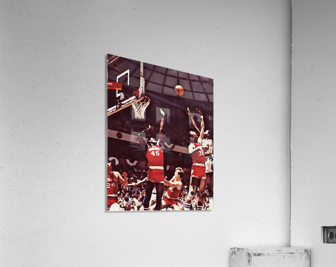 1981 Indiana Basketball Art  Acrylic Print