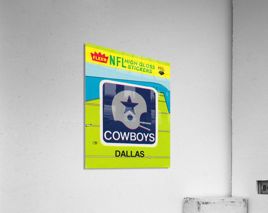 1981 Dallas Cowboys Fleer Decal Art  Acrylic Print