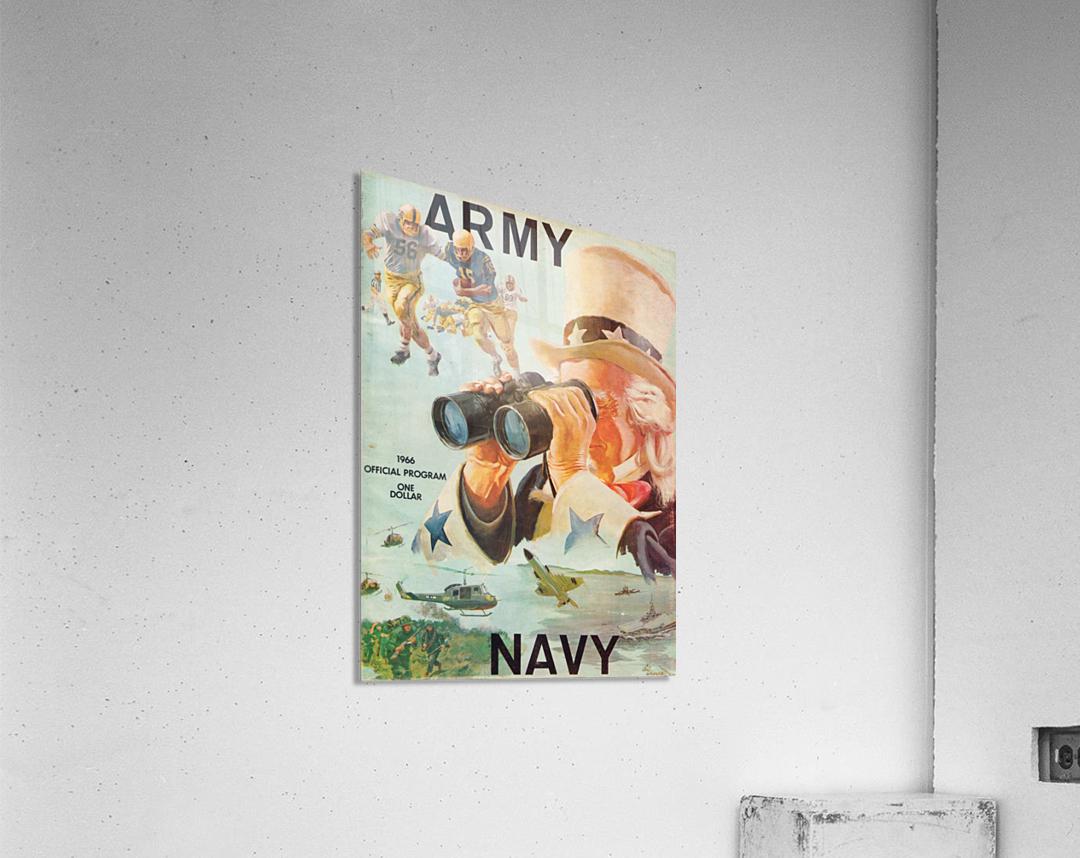1966 Army vs. Navy Football Program  Acrylic Print