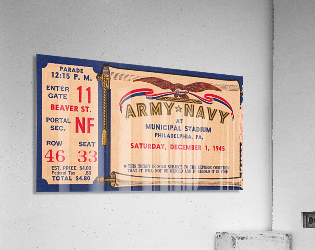 1945 Army Navy Game of the Century  Acrylic Print