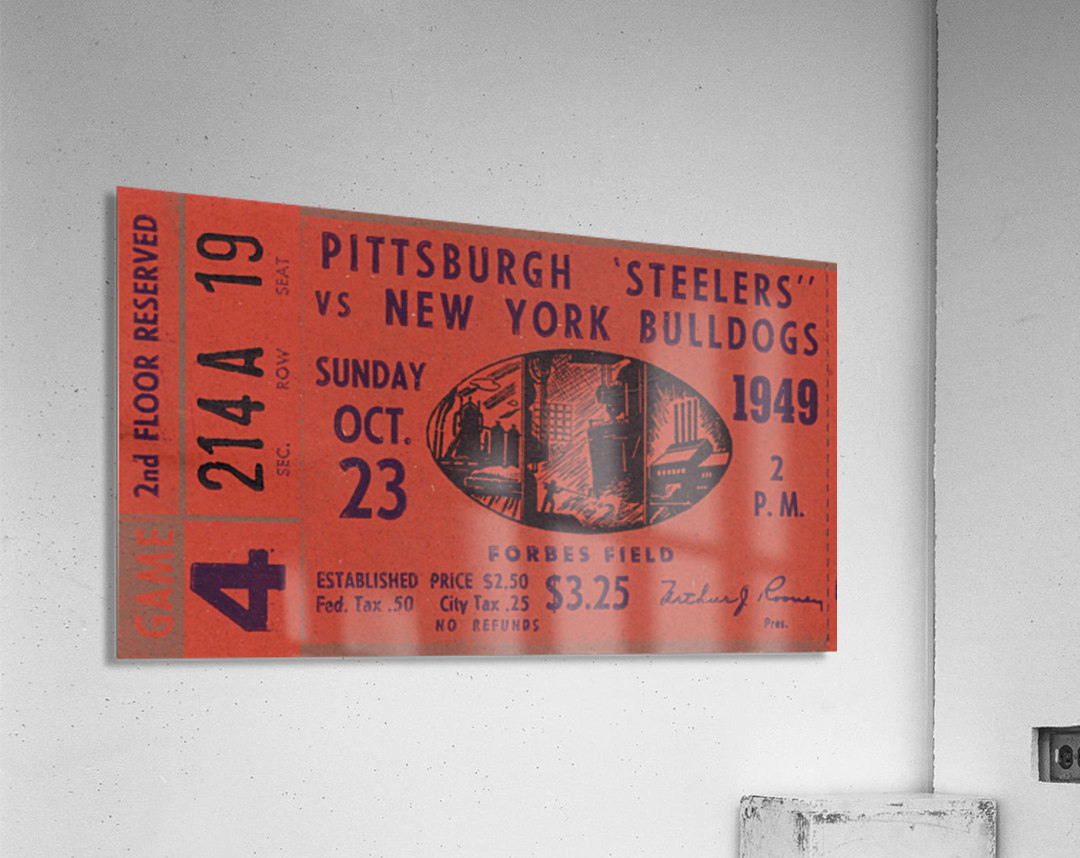 1949 Pittsburgh Steelers vs. New York Bulldogs  Acrylic Print