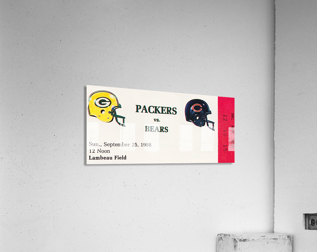 1988 Green Bay Packers vs. Chicago  Acrylic Print