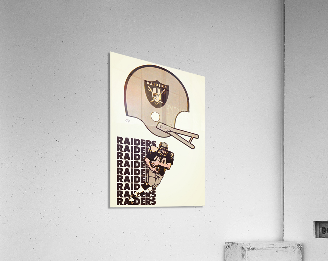 1976 Oakland Raiders Art  Acrylic Print