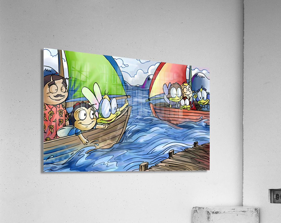 A Dream of Summer - Boats  Acrylic Print