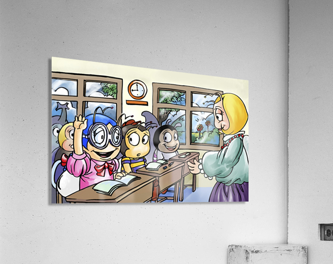 School Days - Classroom - Bugville Critters  Acrylic Print