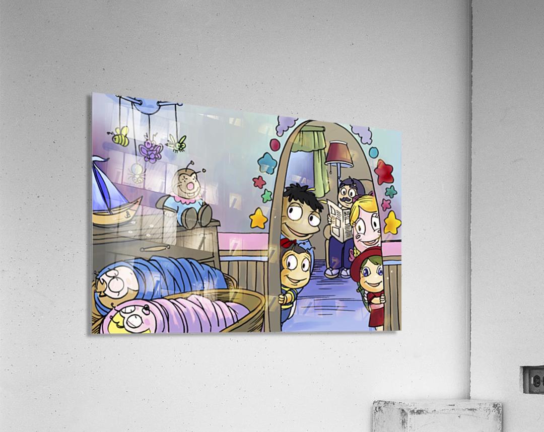 Twins - Baby nursery - Bugville Critters  Acrylic Print
