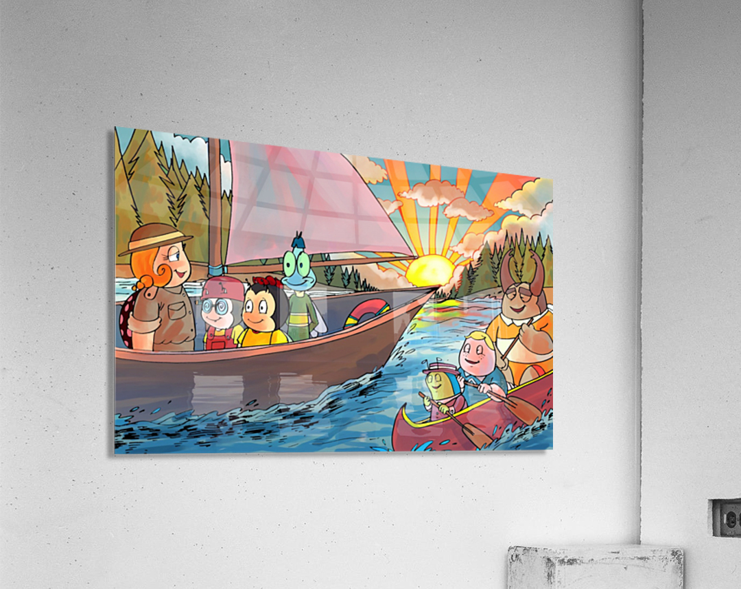 Summer Camp - Sailing - Bugville Critters  Acrylic Print