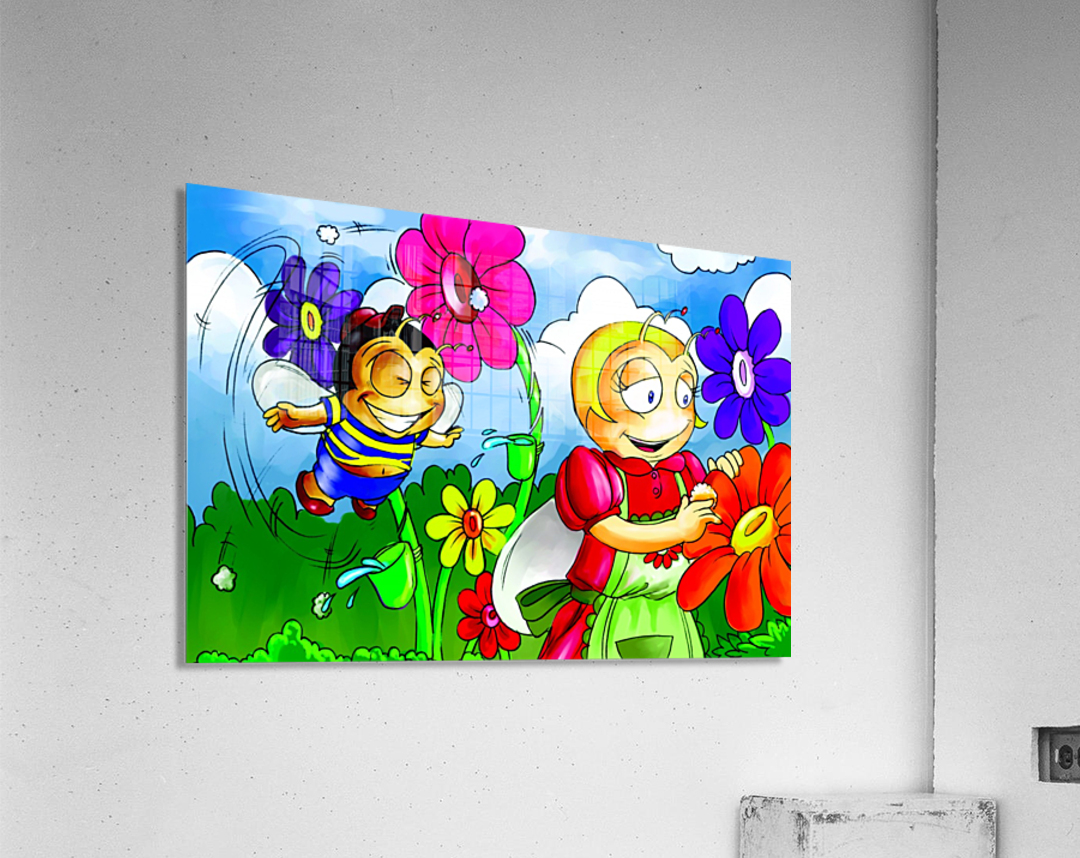 Mother Bee at Work - Bugville Critters  Acrylic Print