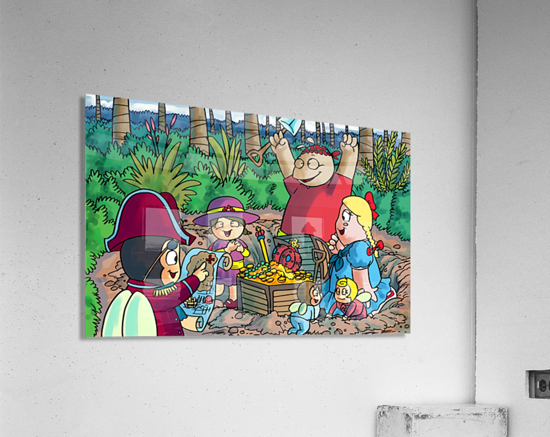 Hidden Treasure - Pirates - Bugville Critters  Acrylic Print