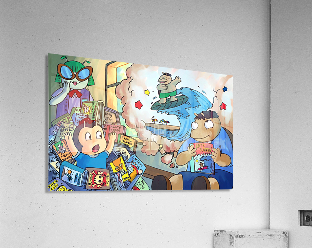 Library Daydreams 2 - Bugville Critters  Acrylic Print