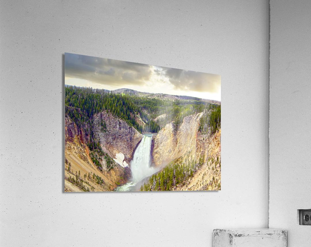 Mighty Yellowstone - Grand Canyon of the Yellowstone River - Yellowstone National Park  Acrylic Print