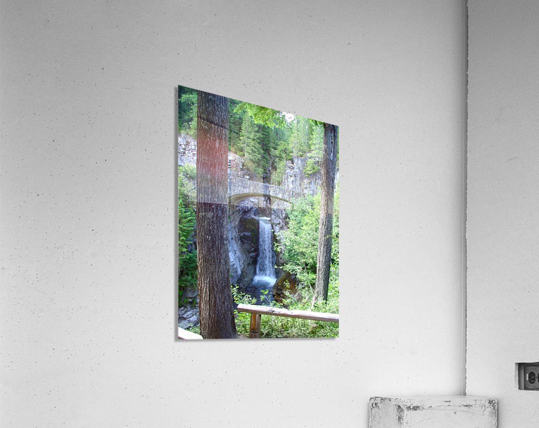 Christine Falls at Mount Rainier Pacific Northwest  Acrylic Print