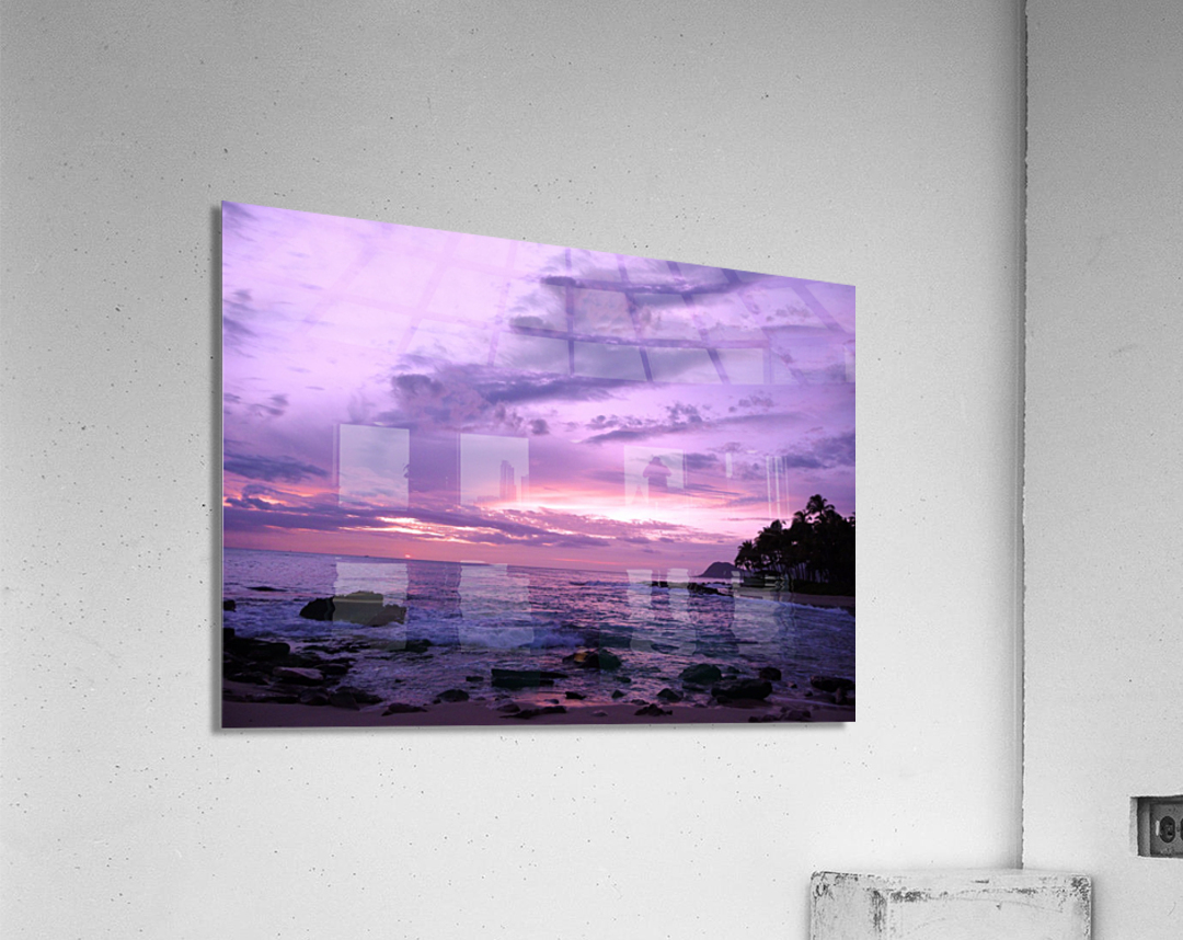 Purple Skies Over Hawaii  Acrylic Print