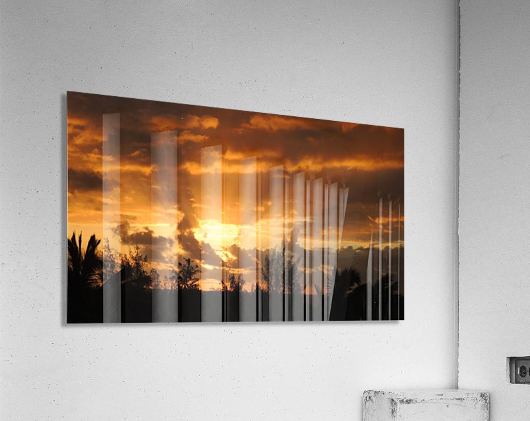 Golden Heavens  Acrylic Print