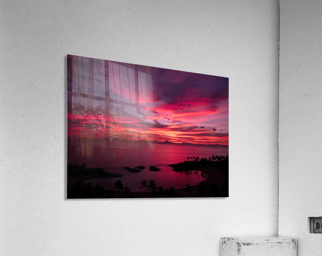 Bliss One - Pink and Purple Kissed Skies Over Hawaii  Acrylic Print