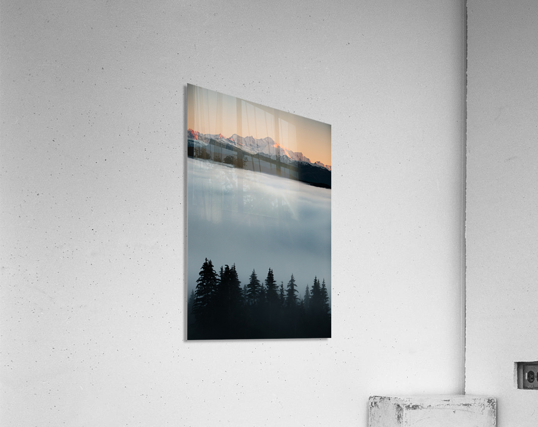 Mont Blanc and its sea of clouds  Acrylic Print