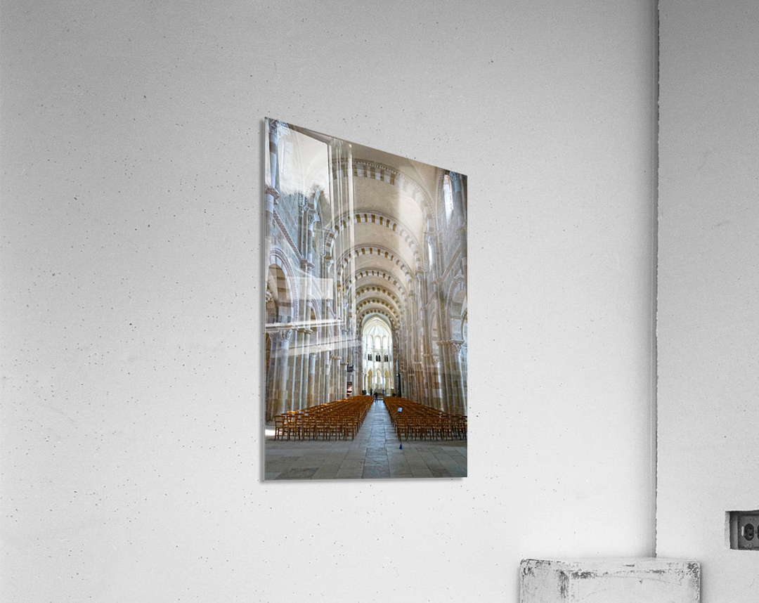 Basilica of Sainte Marie Madeleine 4 of 5 @ Vezelay France  Acrylic Print