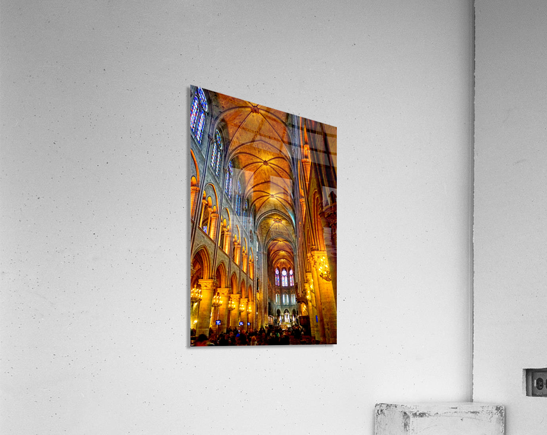 Jeanne d Arc and Saint Croix Cathedral at Orleans   France 2 of 7  Acrylic Print