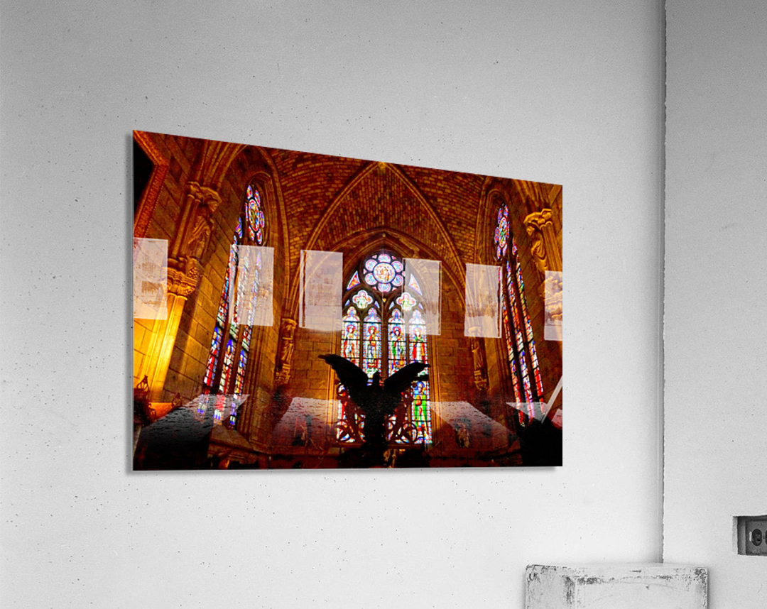 Jeanne d Arc and Saint Croix Cathedral at Orleans   France 5 of 7  Acrylic Print