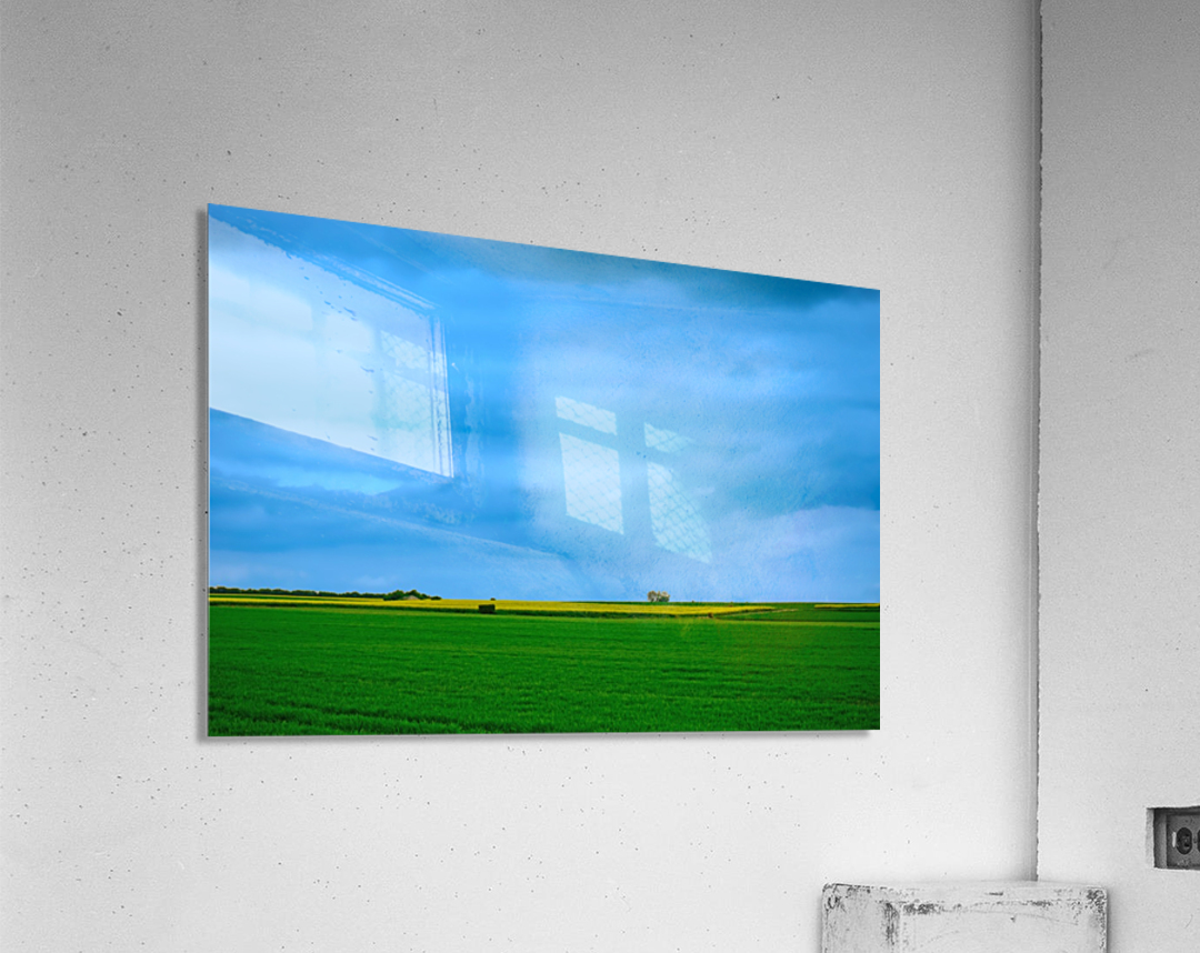 Painted Fields - 2017 Gallery Artwork of the Year - Minimalism  Acrylic Print