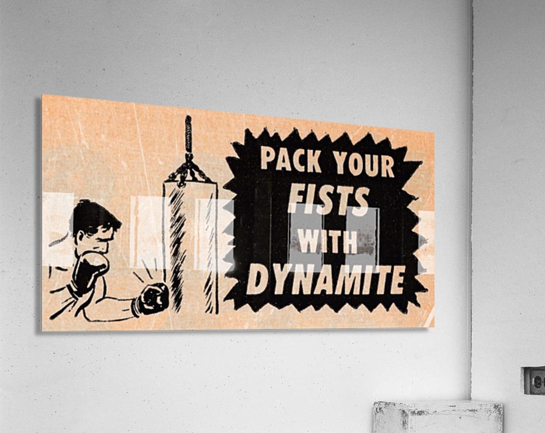 1957 boxing art   Acrylic Print