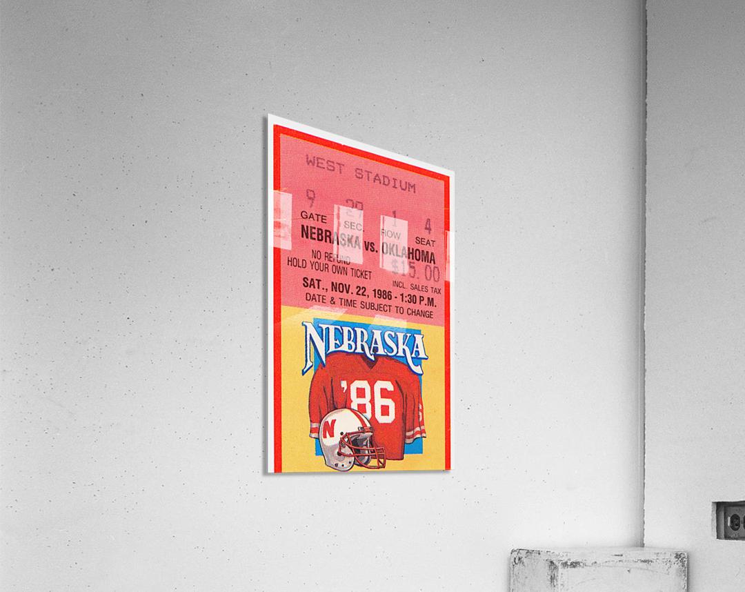 1986 Oklahoma vs. Nebraska  Acrylic Print